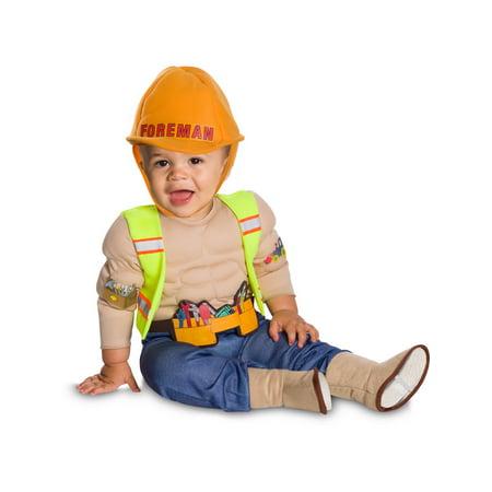 Construction Barrel Halloween Costume (Lil' Construction Worker Costume - Size)