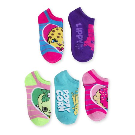 6e94981f496 Trolls - Shopkins No Show Socks