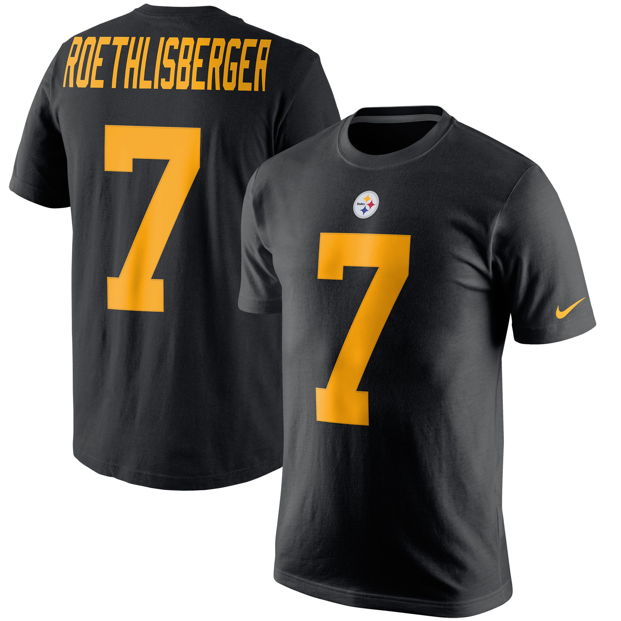 Ben Roethlisberger Pittsburgh Steelers Nike Color Rush Player Pride Name & Number T-Shirt - Black