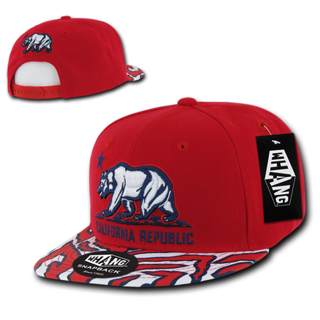 674fa6ce Whang Ziger Cali Bear Snapback Cap Caps Hat Hats For Men Women Red -  Walmart.com