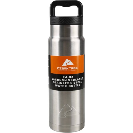 832b24a75077 Ozark Trail 24 oz Double Wall Vacuum Stainless Steel Water Bottle