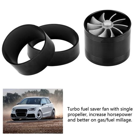 Ejoyous 64mm Car Air Intake Turbonator Single Fan Turbine Super Charger Gas Fuel Saver Turbo, Turbonator Dual Fan, Air Intake Super Charger - image 3 of 8