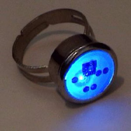 Red Blue Ring Flashing Body Light Lapel Pins