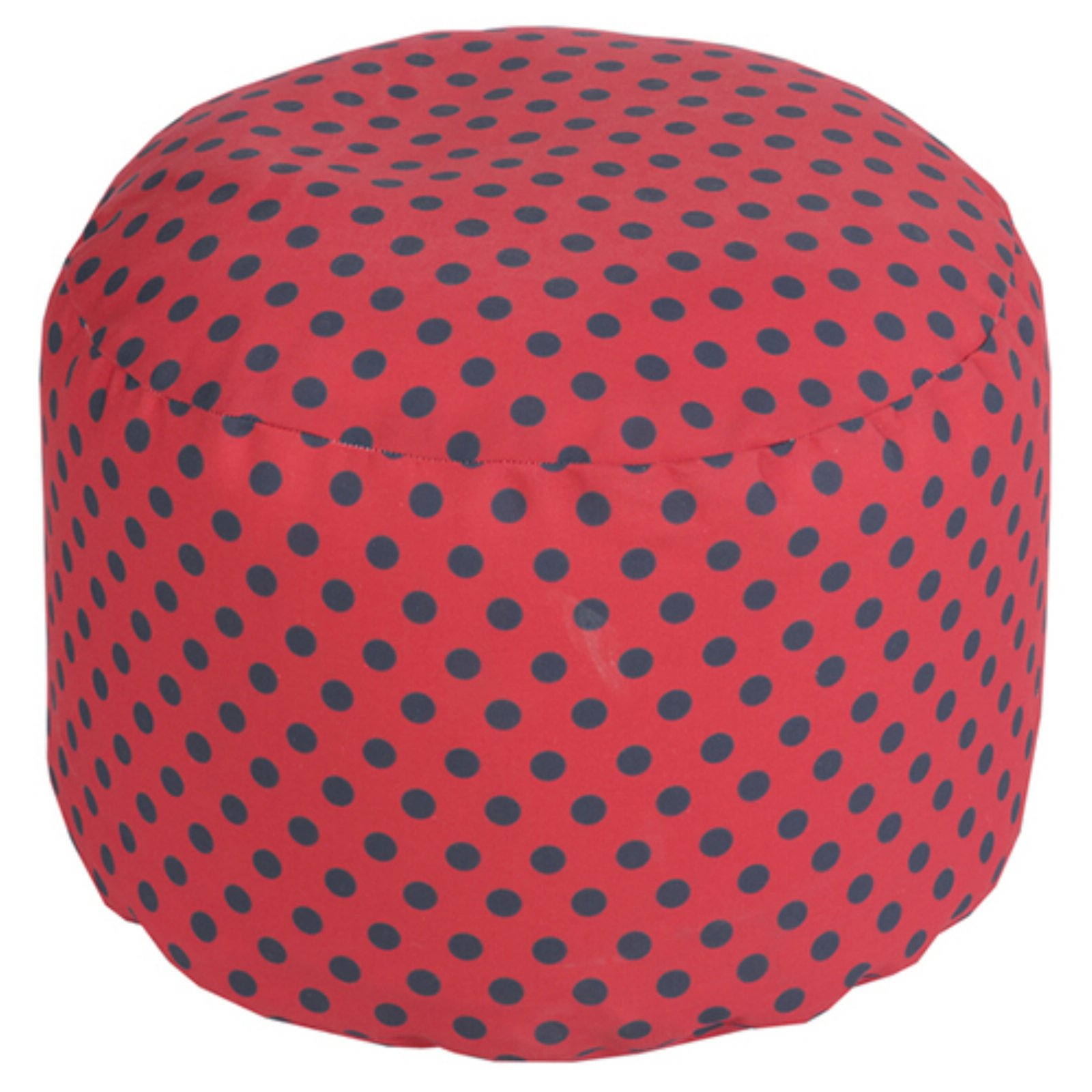 Surya 20 x 20 in. Outdoor Polka Dot Round Pouf by Surya