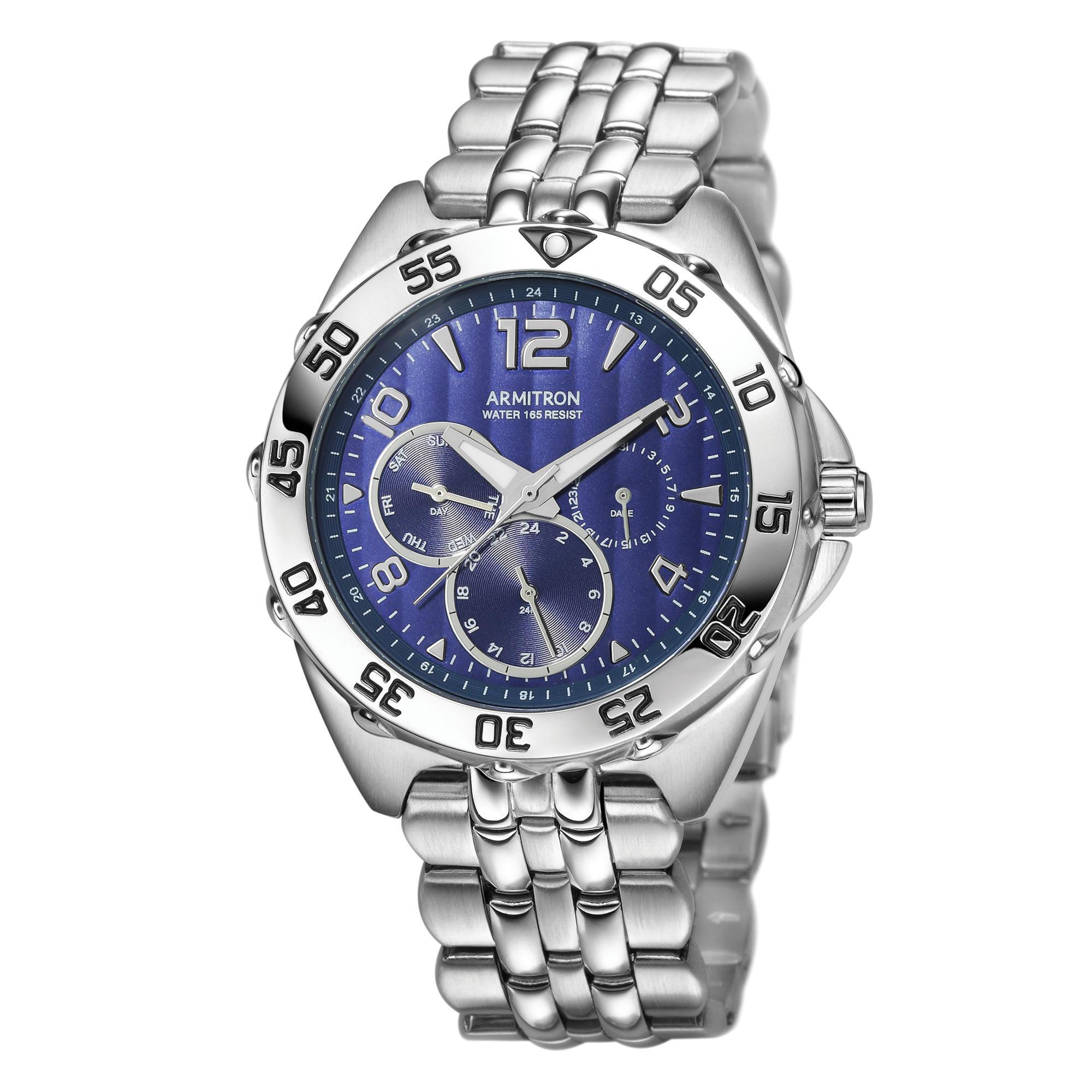 Armitron Men's Stainless Steel Sport Watch, Stainless Steel Bracelet