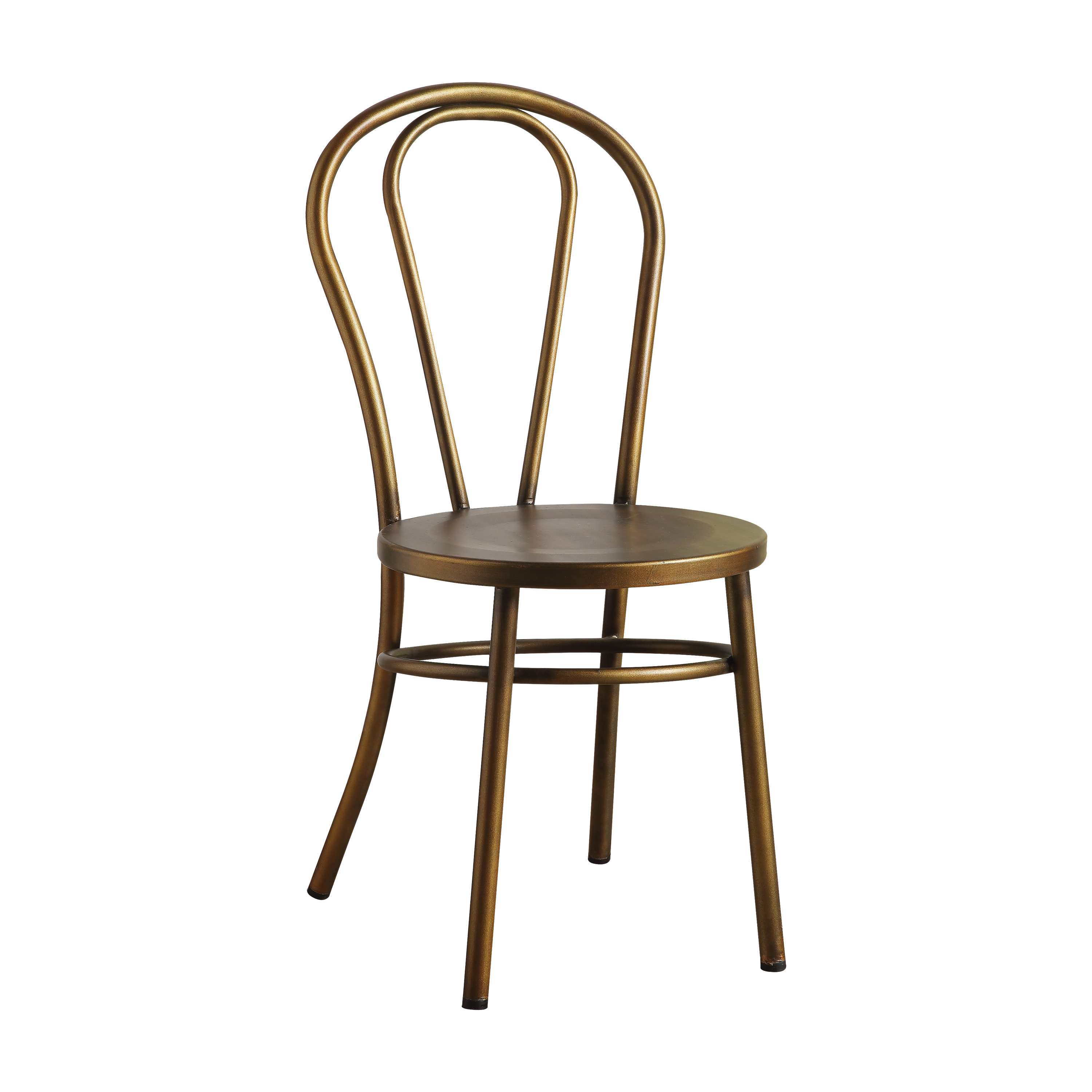 ACME Cerys Metal Side Chair in Antique Copper, Set of 2