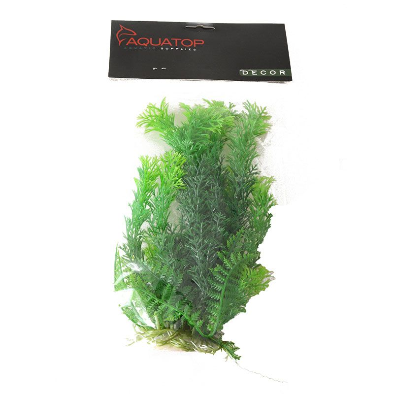 Aquatop Cabomba Aquarium Plant - Green 9 High w/ Weighted Base - Pack of 2