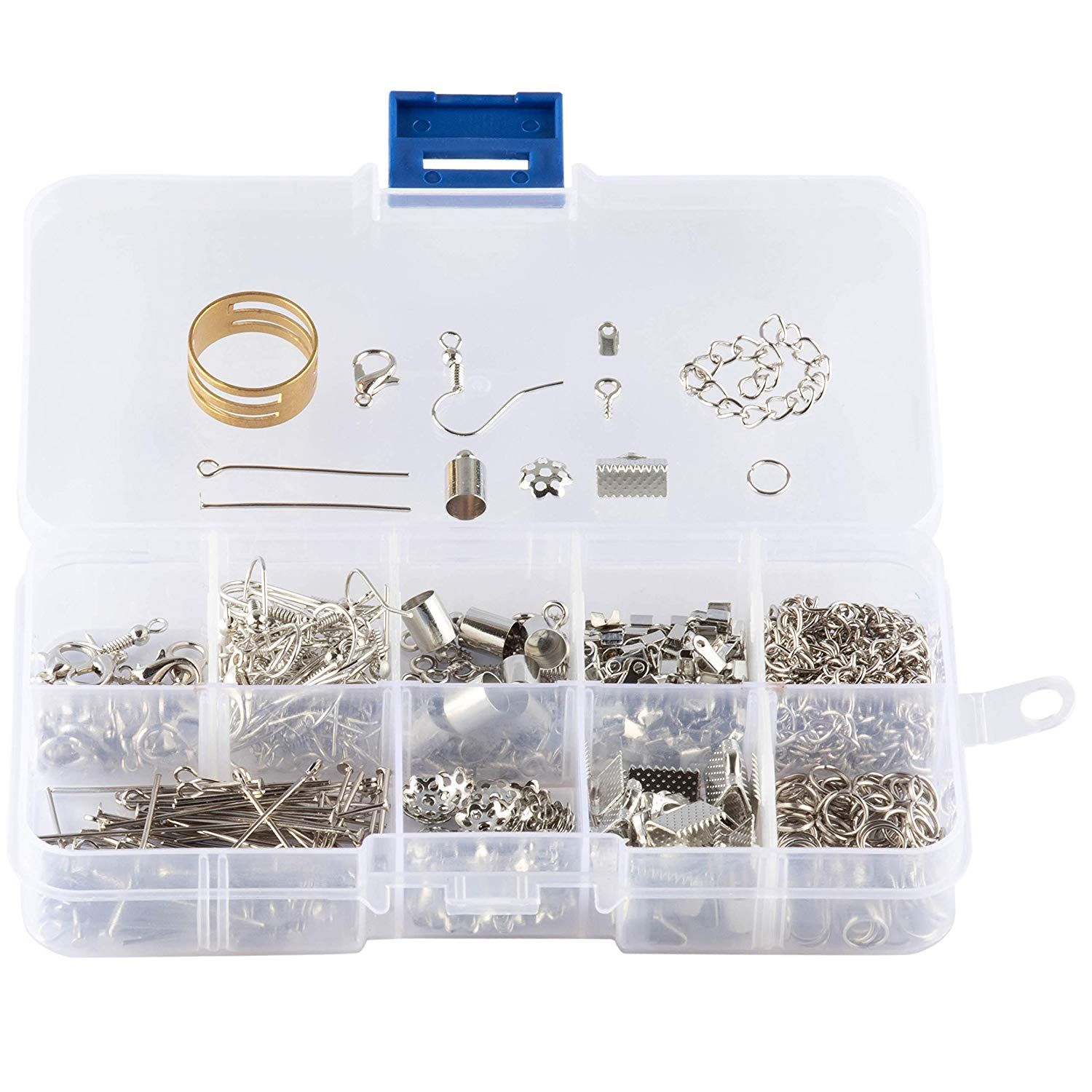 Jewelry Making Starter Kit Darice Beads Silver Bracelet Tools NEW craft findings