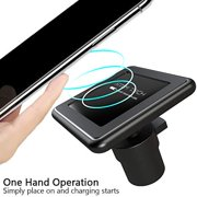 Attom Tech Magnetic Wireless Charger, Fast Qi Wireless Car Mount Charger 7.5W Compatible for iPhones, 10W for Samsung phones, 5W for All other Qi Devices (Dashboard and Air Vent)