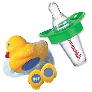 Munchkin The Medicator Pacifier Medicine Dispenser with Munchkin White Hot Bath Ducky, - Blinkies Lights