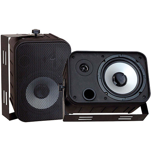 """Pyle PDWR50B 6.5"""" Indoor/Outdoor Waterproof Speakers, Black"""