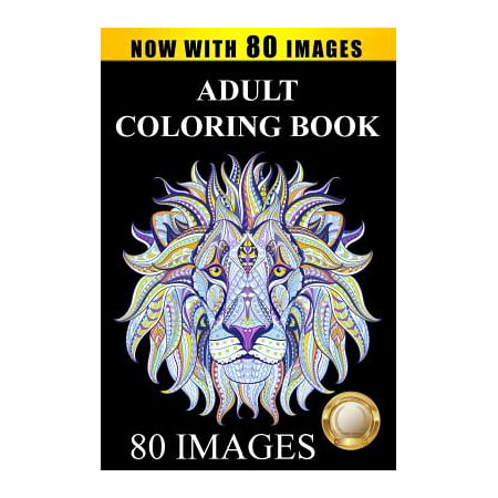 Adult Coloring Book Designs : Stress Relief Coloring Book: 80 Images Including Animals, Mandalas, Paisley Patterns, Garden Designs - Halloween Hard Coloring Pages