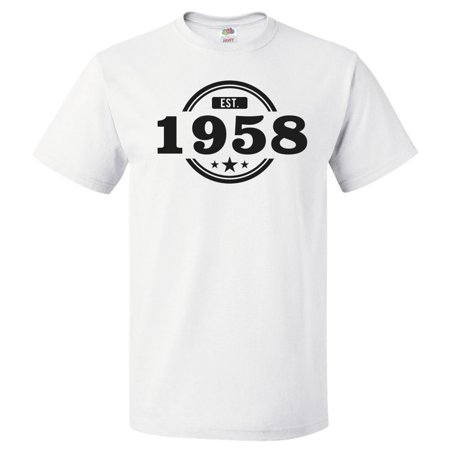 61st Birthday Gift For 61 Year Old Established 1958 T Shirt