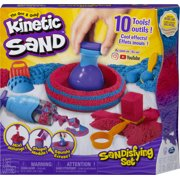 Kinetic Sand, Sandisfying Set with 2lbs of Sand and 10 Tools, Play Sand Sensory Toys for Kids Ages 3 and up