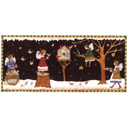 LPG Greetings Country Angels: Box of 14 Valorie Evers Wenk Long Format Christmas Cards