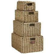 VonHaus 4 Piece Seagrass Storage Basket