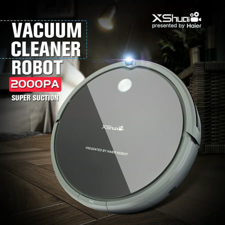 XShuai HXS-G1 Smart Cleaning Robot Floor Cleaner Auto Vacuum Microfiber Dust Cleaner Automatic Sweeping Machine Remote Control Super Quiet  2000PA Power Suction ()