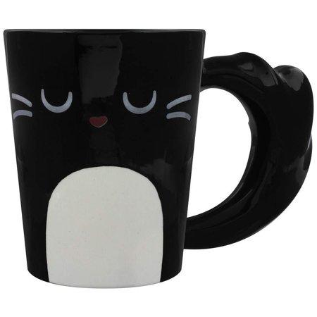 Grindstore Feline Fine Black Cat Latte Mug - image 1 of 1