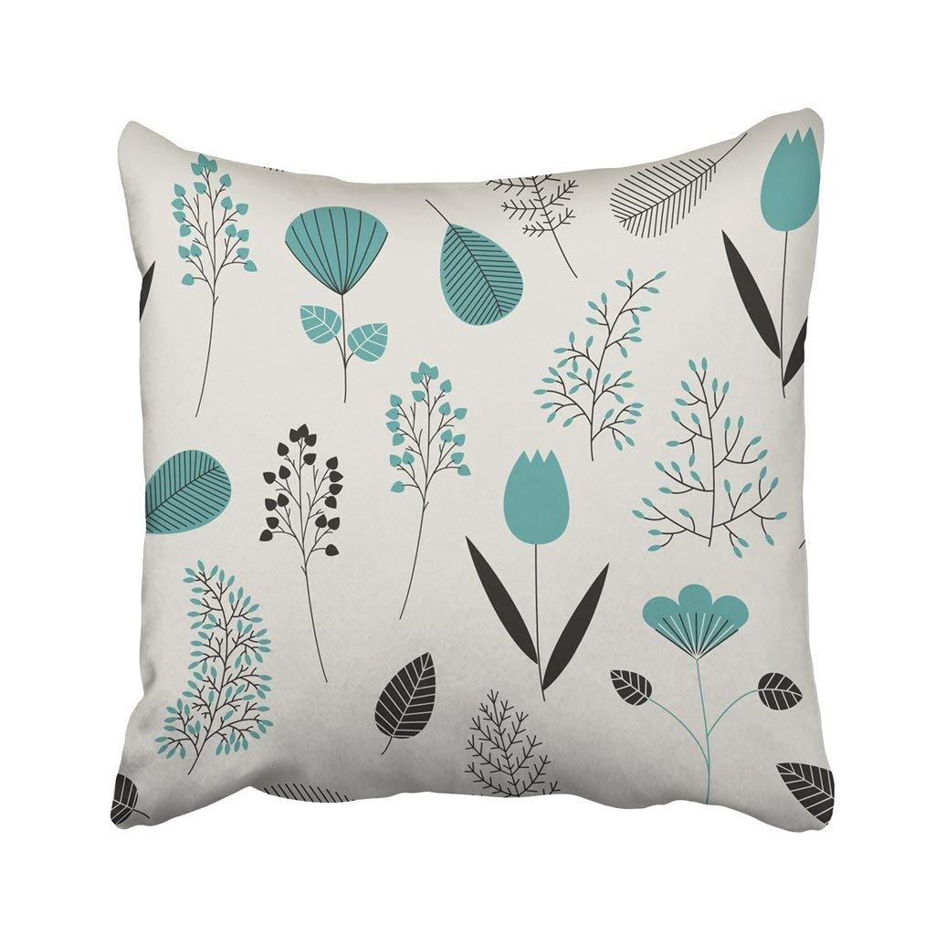 WOPOP Green Beauty With Cute Plants White Berry Botanical Branch Bush Color Elegance Fall Pillowcase Cover 20x20 inch