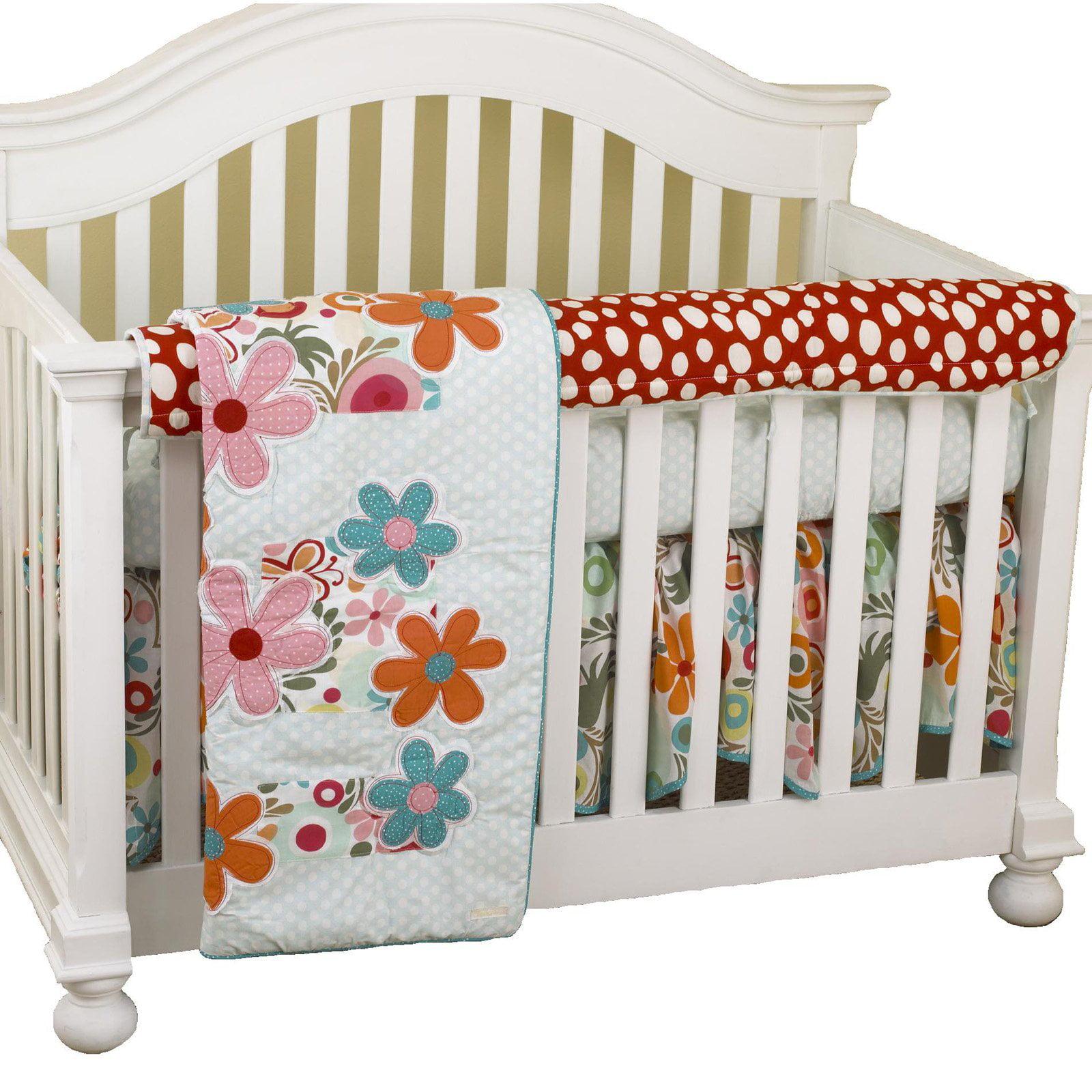 Cotton Tale Designs Lizzie Front Crib Rail Cover Up Set