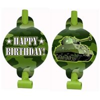 Military Camouflage Happy Birthday Blowouts / Favors (8ct)