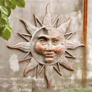 Half Face Sun Garden Wall Plaque