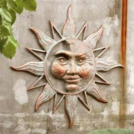Half Face Sun Garden Wall Plaque