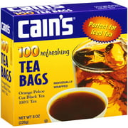 Cain's Orange Pekoe Cut Black Tea Bags, 100 count, 8 oz