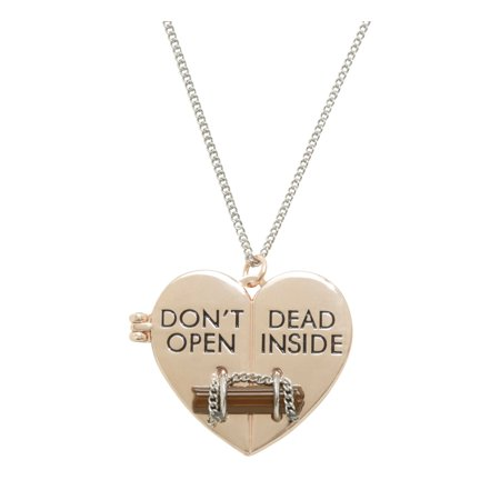 The Walking Dead Don't Open Dead Inside Heart Pendant Necklace](Dead Hearts Wedding)
