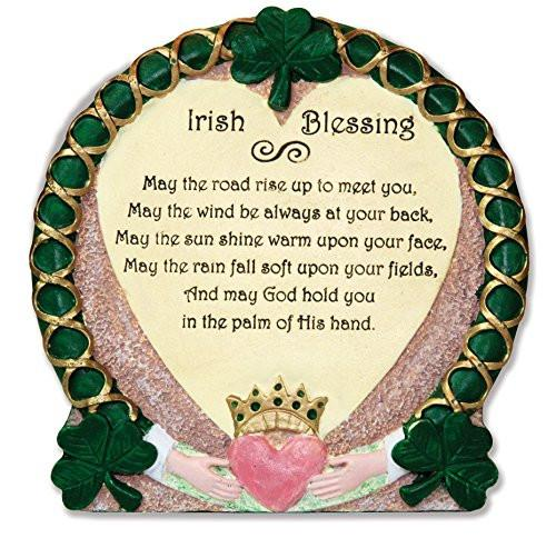 Irish Plaque Traditional Irish Blessing Stone Look Desktop Plaque Claddagh Irish Gift Irish Wedding Irish Kitchen... by