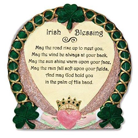 Irish Plaque - Traditional Irish Blessing - Stone Look Desktop Plaque - Claddagh - Irish Gift - Irish Wedding - Irish Kitchen - Shamrock