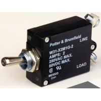 87F620 Te Connectivity/Potter&Brumfield W31-X2M1G-7.50 Circuit Breaker,250V,7.5A