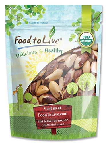 Organic Brazil Nuts, 2 Pounds – Raw, No Shell, Kosher, Non-GMO, Organic, Vegan – by Food to Live