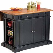 Home Styles Traditions Kitchen Island, Black/Distressed Oak
