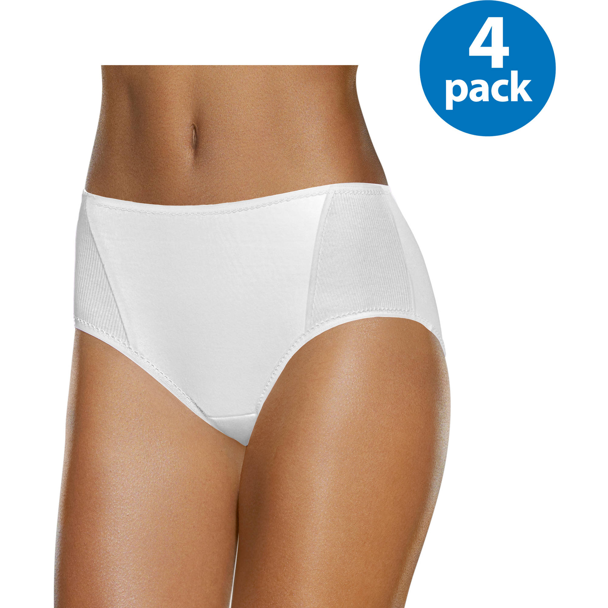 Fruit of the Loom Ladies' 4pk Flexible Fit Mid-Rise Brief