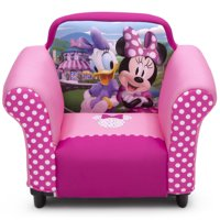 Disney Minnie Mouse Kids Upholstered Chair with Sculpted Plastic Frame by Delta Children