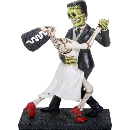 Frankenstein and Bride Dancing Figurine Day of the Dead Halloween Decoration New - Halloween Solar Dancing Toys