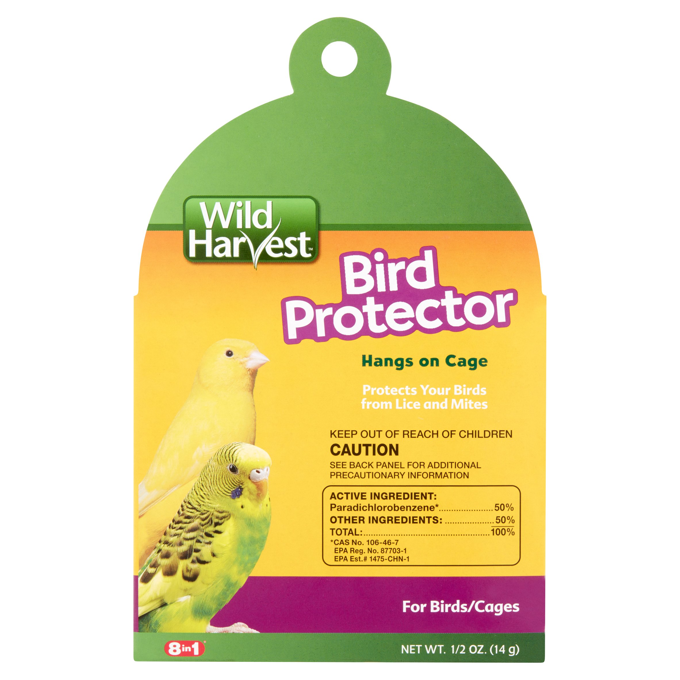 (2 pack) Wild Harvest Bird Protector for Small Birds, .5-Ounces