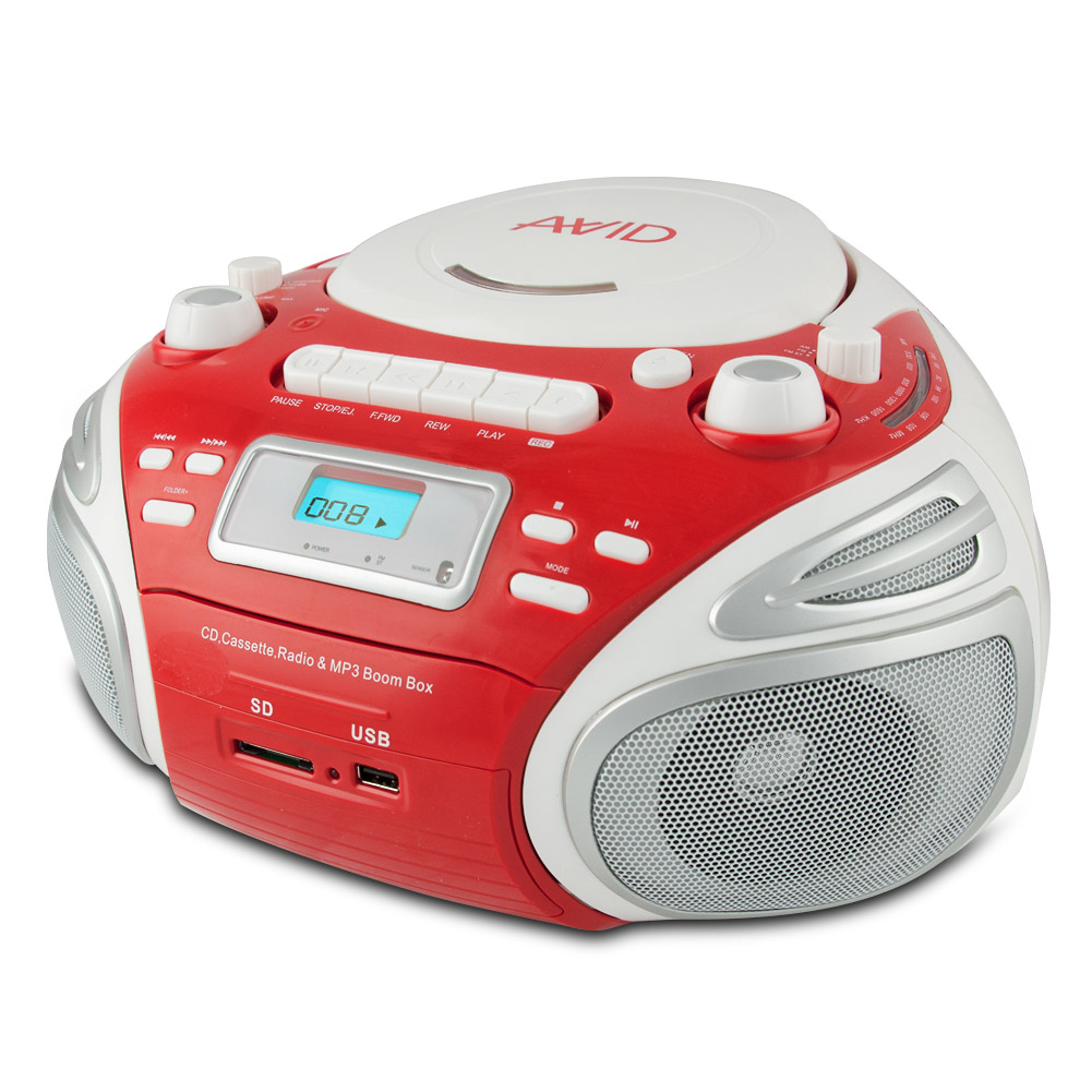 AVID BB-992 CD, SD, Cassette, Radio, MP3 Stereo Boombox with Remote by Avid Technology%2C Inc