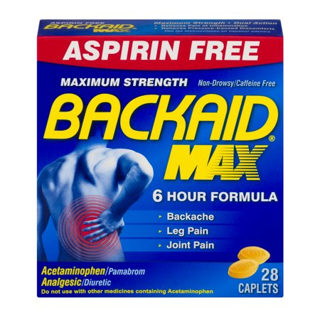 Backaid Max Maximum Strength Pain Relief Caplets, 28 (Best Muscle Relaxers For Anxiety)