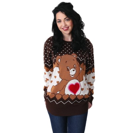 Tenderheart Bear Adult Care Bears Ugly Christmas Sweater ()