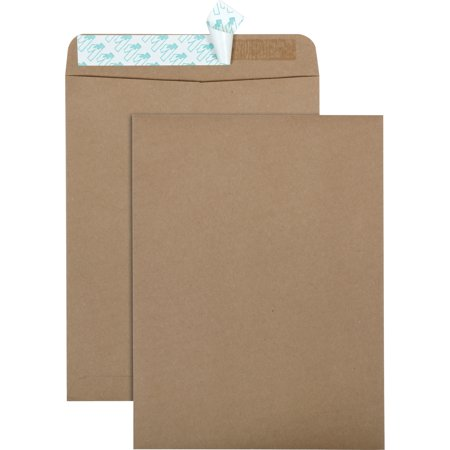 Quality Park, QUA44711, Redi-Strip Eco-friendly Catalog Envelope, 100 / Box, Kraft Quality Park Redi File Clasp