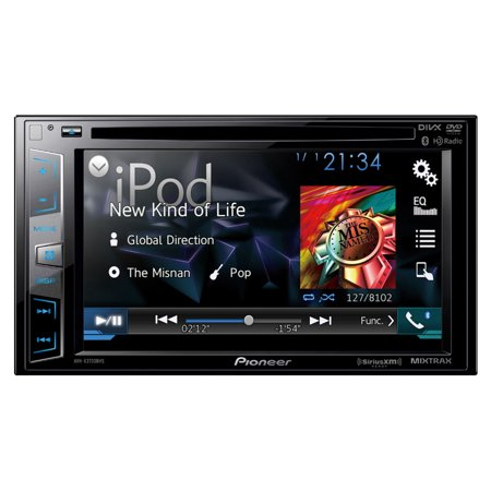 """Pioneer AVH-X3700BHS Double DIN 6.2"""" LCD Display Bluetooth In-Dash DVD CD AM FM Car Stereo by"""