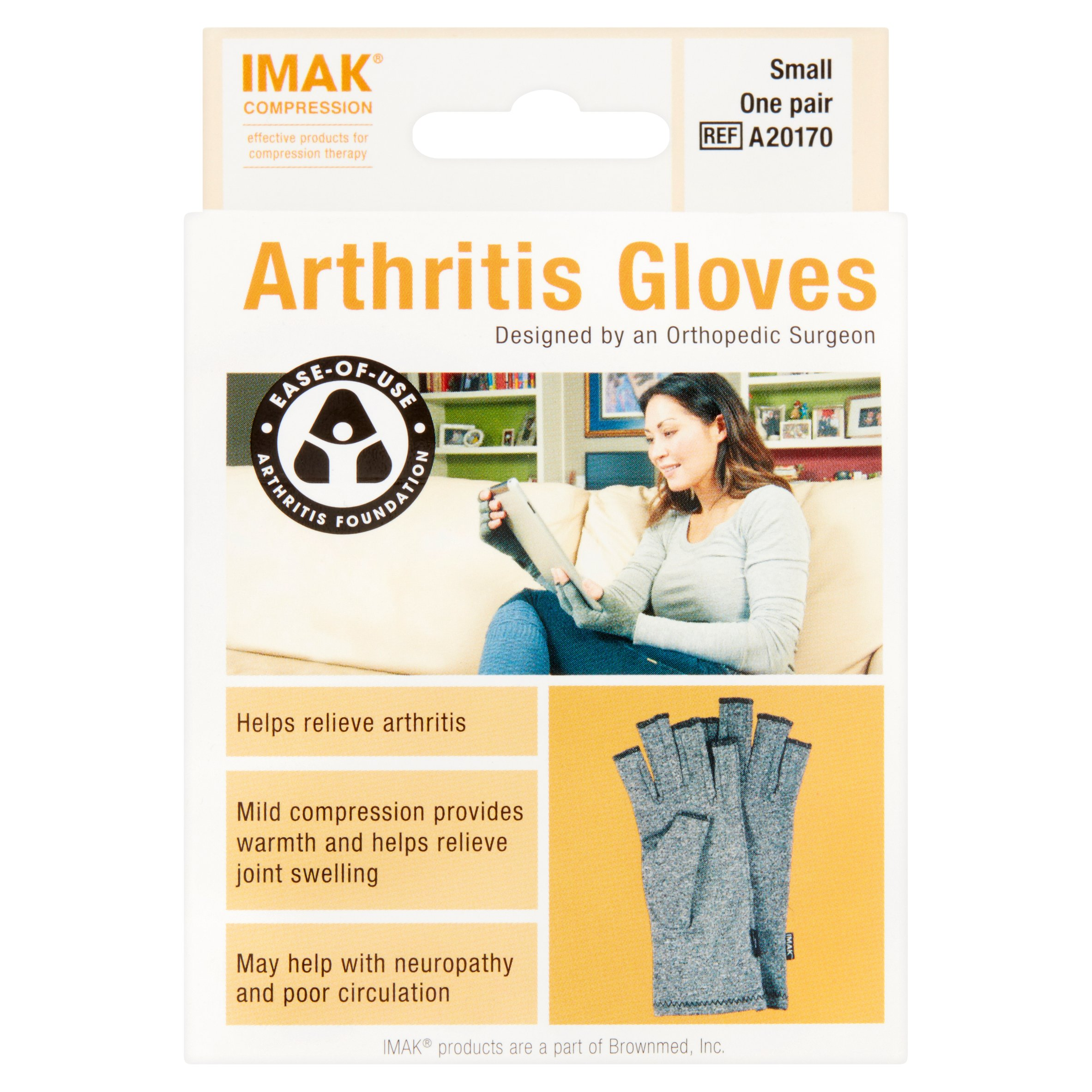Imak Compression Small Arhritis Gloves, one pair