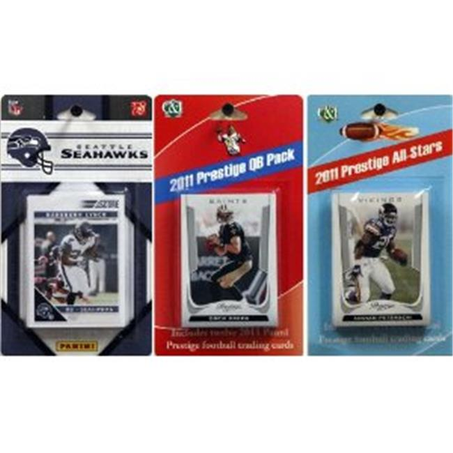 C & I Collectables 2011SEAHAWKSTSC NFL Seattle Seahawks Licensed 2011 Score Team Set With Twelve Card 2011 Prestige