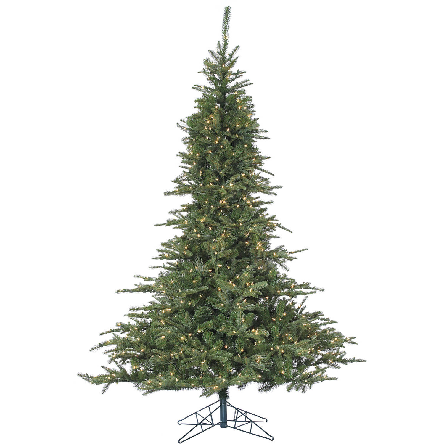 Fraser Hill Farm Pre-Lit 7.5' Cluster Pine Artificial Christmas Tree with Clear LED String Lighting