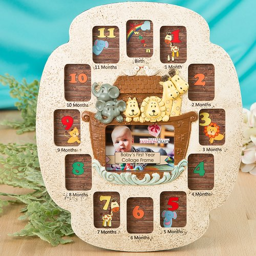 Fashion Craft Noah's Ark Baby's First Year Collage Picture Frame