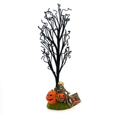 Halloween HAUNTED HALLOWEEN TREE Polyresin Skeleton Pumpkins Gravestone Lc5475
