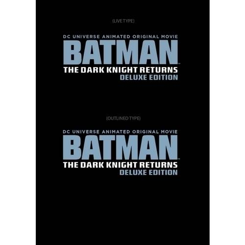 DC Universe Animated Original Movie: Batman: The Dark Knight Returns (Deluxe Edition) (Blu-ray)