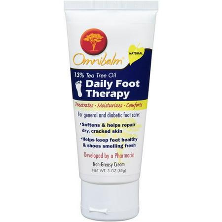 Omnibalm Daily Foot Therapy crème non grasse, 3 oz